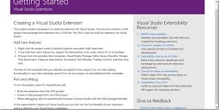 writing visual studio 2015 extensions you u0027ll want these templates