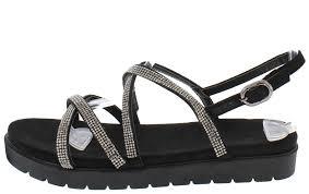 amber black strappy rhinestone lug sole sandals only 10 88
