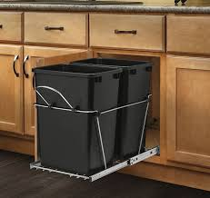 Kitchen Cabinet Organizer by Pull Out Trash Garbage Can Waste Container Kitchen Cabinet