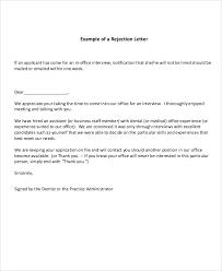 thank you letter after job rejection sample u2013 letter format