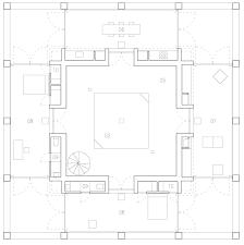 symmetrical concrete house by chilean studio pezo von