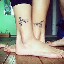 sister tattoo on foot creativefan