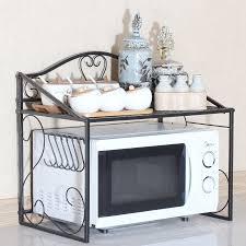 iron kitchen storage rack organizer for kitchen microwave oven