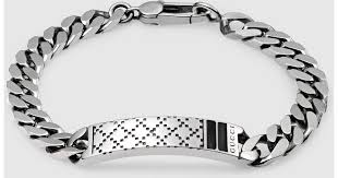 sterling bracelet images Lyst gucci diamantissima bracelet in sterling silver in metallic jpeg
