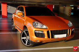 orange porsche amazing color combo orange porsche cayenne on dark smoke wheels