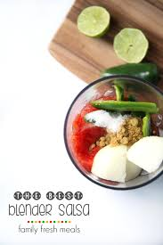 blender cuisine the best blender salsa recipe family fresh meals