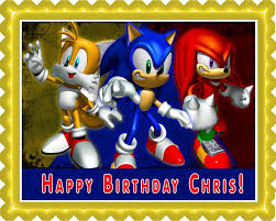 sonic the hedgehog cake topper sonic edible birthday cake or cupcake topper edible prints on
