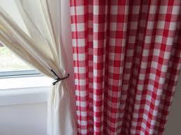 Green And White Gingham Curtains by Red Gingham Curtains Interior Design