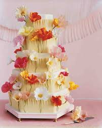 11 diy wedding cake ideas that will transform your tiers martha crepe paper poppies cake