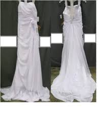 light in the box bags lightinthebox white laced bowed traditional wedding dress size 10 m