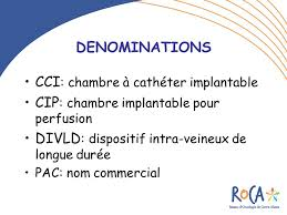 chambre implantable pour perfusion les chambres a catheter implantables cci ppt