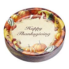 10 25 happy thanksgiving paper plates 50 count tree