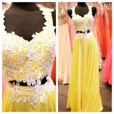 2016 beaded prom dresses beading prom dress yellow prom gown 2
