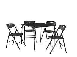 Folding Table And Chair Sets Cosco Products 5 Pc Folding Table And Chair Set Black