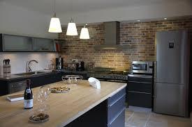 cuisine bois et gris emejing cuisine noir mat et bois images ansomone us ansomone us