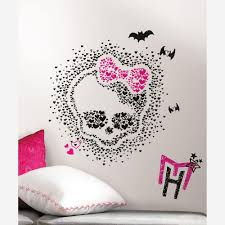 Monster High Bedroom Decorations 2 5 In X 27 In Monster High Heart Skullette Peel And Stick 18