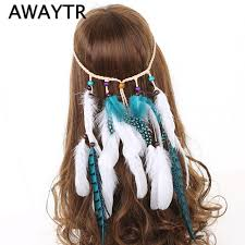 feather headbands online shop awaytr fashion hair accessories bohemian
