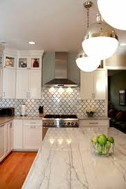 kitchen macaubus quartz backsplash calacatta marble