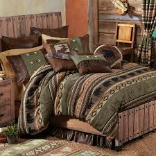 Rustic Bed Rustic Bedding Timber Woods Moose U0026 Bear Bedding Collection Black