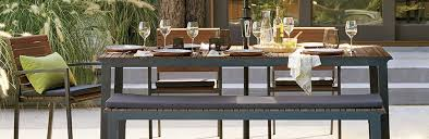faux wood outdoor furniture rocha crate and barrel