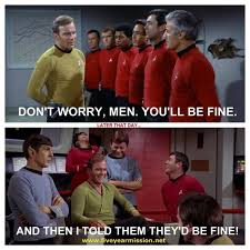 Red Shirt Star Trek Meme - 41 best red shirts star trek s walking dead images on pinterest