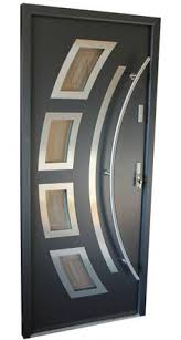 Steel Exterior Doors With Glass Modern Style Contemporary Steel Exterior Door With Glass The Door