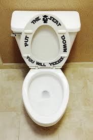 Put the seat down Yesssss toilet seat decals Bathroom Kids
