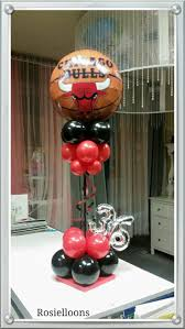 balloon arrangements chicago 16 best chicago bulls balloons decor images on chicago