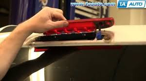 ford transit connect rear top third brake light l how to install replace third 3rd high mount brake light 2002 10 ford