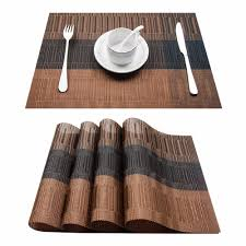 Plastic Table Runners Set Of 4 Pvc Bamboo Plastic Placemats For Dining Table Runner