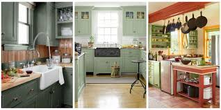 Kitchen Cabinets Painting Ideas Likeable 10 Green Kitchen Ideas Best Paint Colors For Kitchens