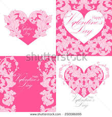 Designs Of Making Greeting Cards For Valentines Greeting Cards Heart Shape Stock Vector 66292123 Shutterstock