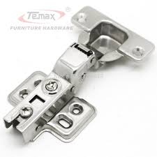 Hinges For Kitchen Cabinets Doors Ss304 Half Overlay Furniture Hardware Hydraulic Brass Buffer