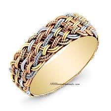 braided wedding bands tri color gold braided wedding band