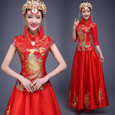 aliexpress com buy phoenix dragon dress women red wedding
