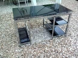 bureau metal et verre bureau verre et metal bureau metal verre conforama womel co