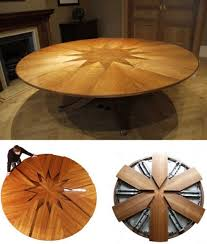 expanding circular dining table expandable round dining table plans round table furniture round chic