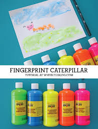 fingerprint caterpillar kids craft inspiration made simple