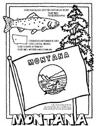 Montana Travel Symbols images Montana coloring page gif