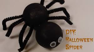 diy halloween styrofoam spider youtube