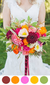 august wedding ideas 10 colorful bouquets for your wedding day the palette
