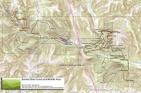 State Park Map by Trail Map Busiek State Forest And Wildlife Area Ozarks Walkabout