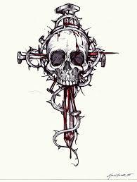 cross skull by blackfrogink skulls i like amazing