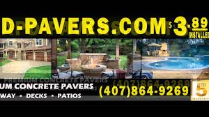 Patio Pavers Orlando by Pavers Installed Apd Orlando 407 8649269 Youtube