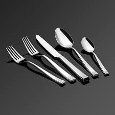 Black Cutlery Set Cadenza 60 Piece Isola 18 10 Stainless Steel Flatware Set