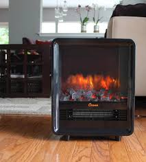 Electric Fireplace Heaters Portable Mini Cube Electric Fireplace With Realistic Coal Effect