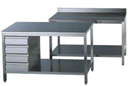 table inox cuisine tables plonges inox