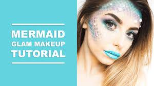 easy mermaid glam halloween makeup tutorial i cocochic youtube