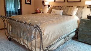 Metal Sleigh Bed Queen Size Metal Sleigh Bed Offer West Bend West Bend Wi