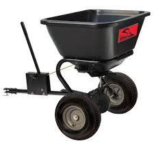 brinly hardy 125 lb tow behind broadcast spreader bs26bh the
